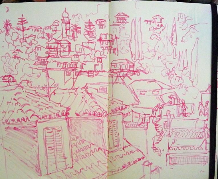 Sketch Zakynthos Town