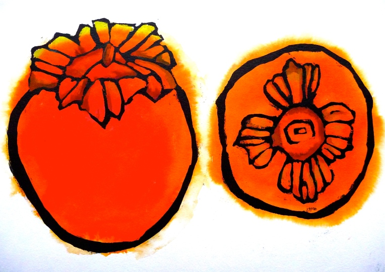 Persimmon no. 1 - ink - Jenny Hill