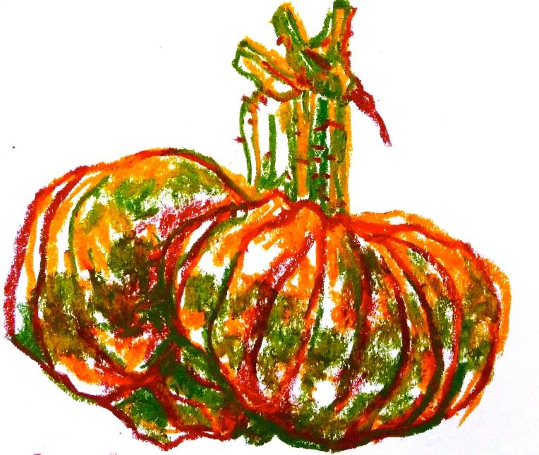 Pumpkin Marina di Chioggia - Oil pastel - Jenny Hill